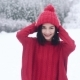 A Beautiful Smiling Girl Posing in Winter - VideoHive Item for Sale