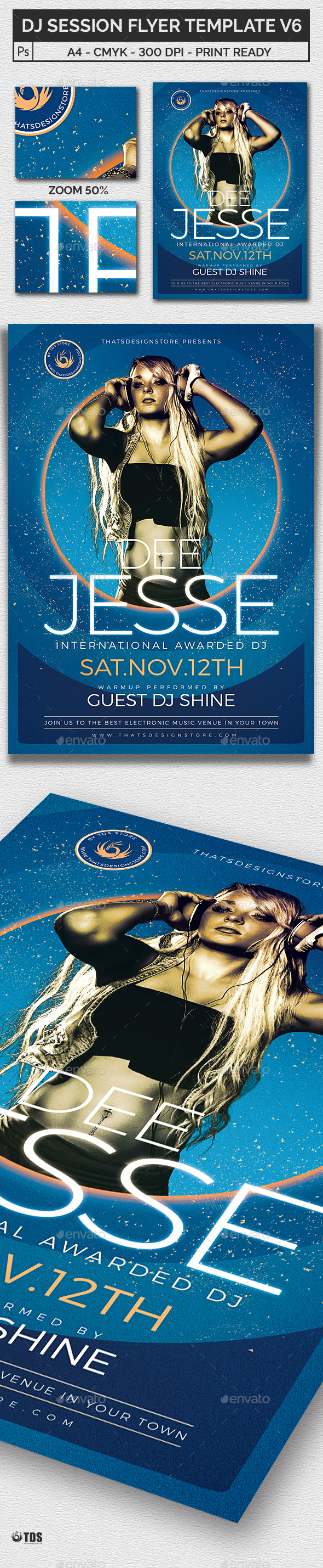 DJ Session Flyer Template V6 - Clubs & Parties Events