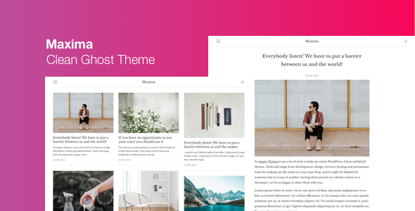 Maxima - Minimal Blog and Magazine Ghost Theme - Ghost Themes Blogging
