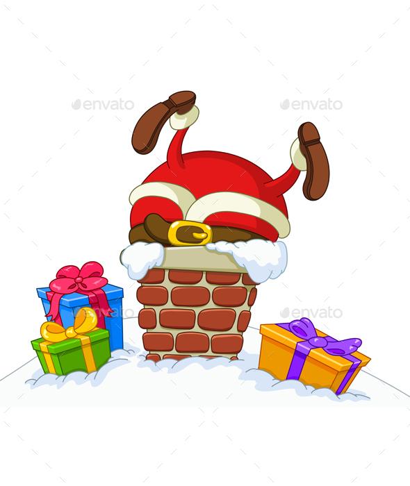 Stuck Santa - Christmas Seasons/Holidays