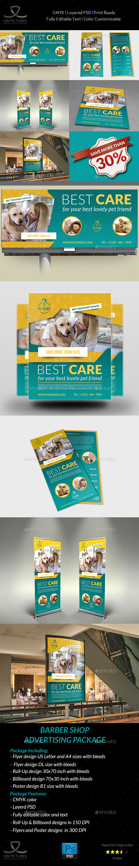 GraphicRiver Veterinarian Clinic Advertising Bundle 21039666
