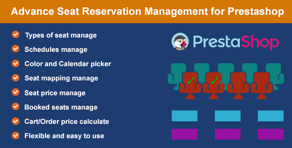 Advance Seat Reservation Management for Prestashop - CodeCanyon Item for Sale