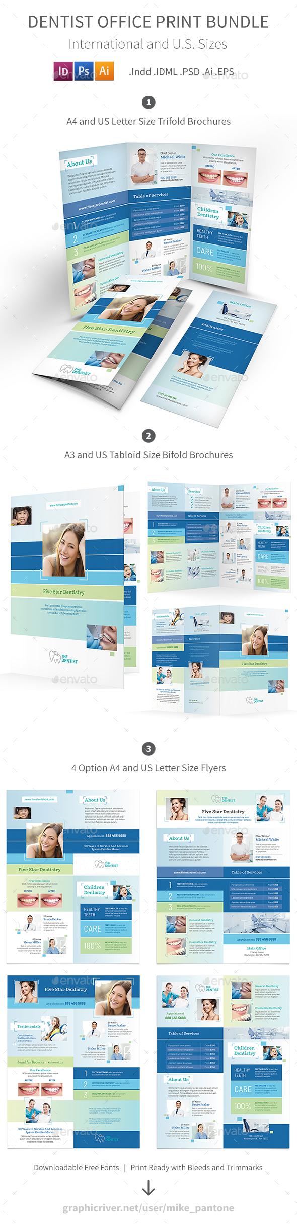 Dentist Office Print Bundle 5 - Informational Brochures