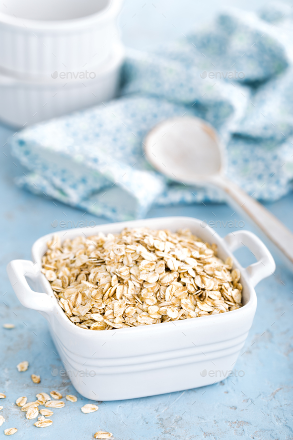 Oat flakes - Stock Photo - Images