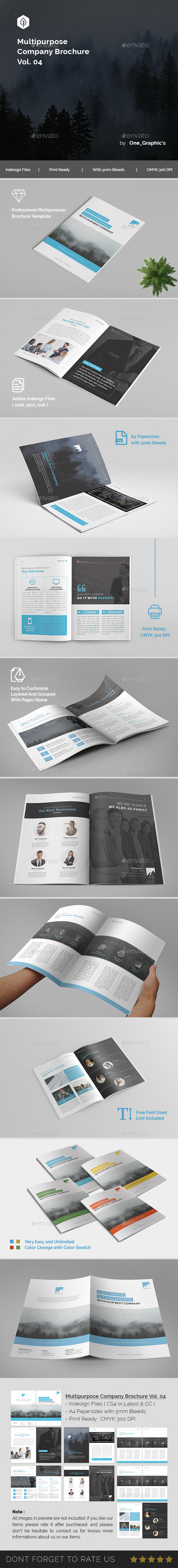 Multipurpose Corporate Brochure Template Vol. 04 - Brochures Print Templates
