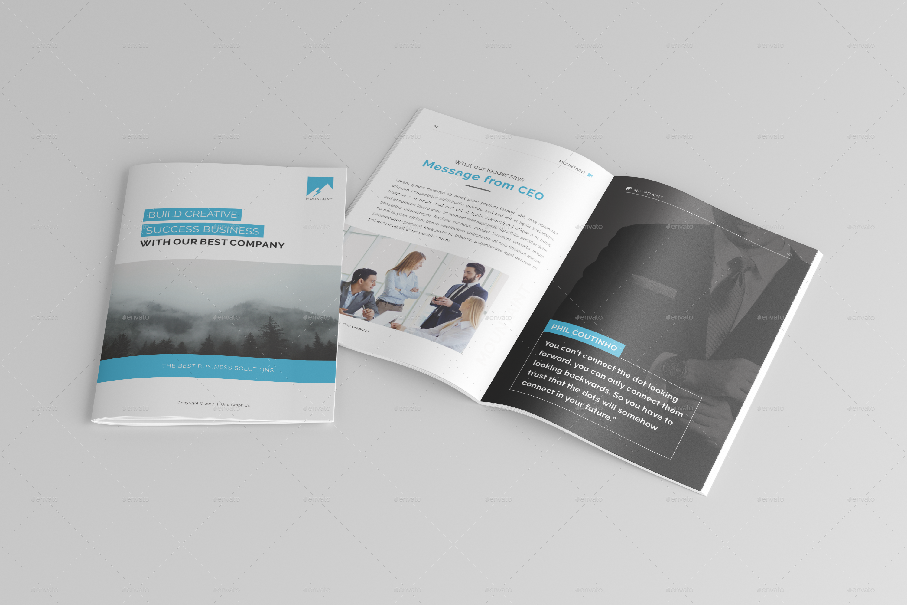 Multipurpose Corporate Brochure Template Vol By Onegraphics - Company brochure template