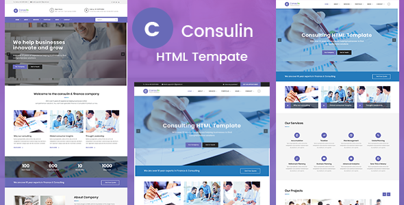 Consulin - Consultant Finance HTML Template