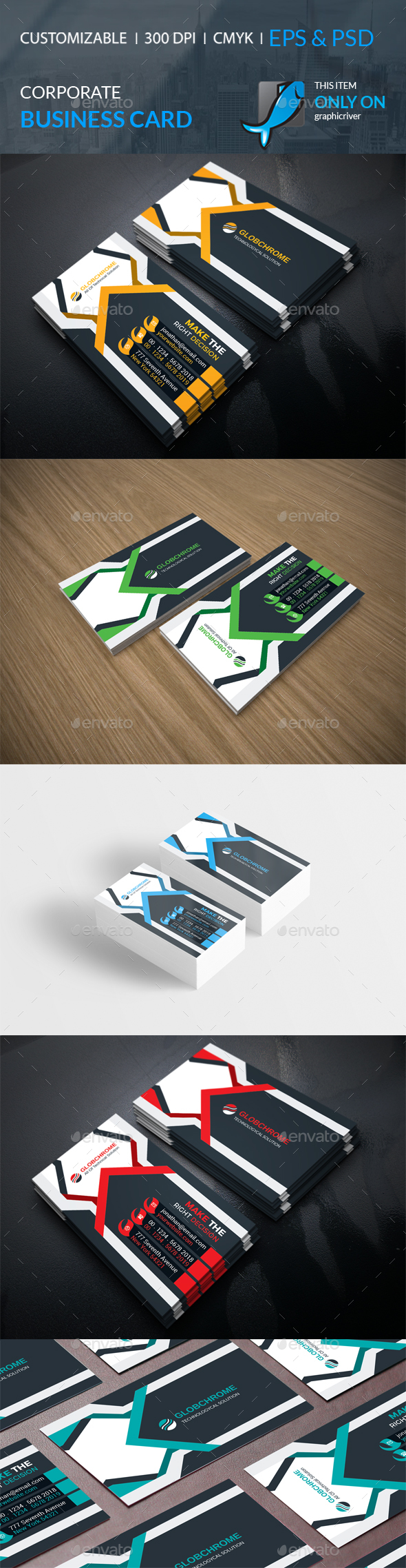 GraphicRiver Corporate Business Card 21040080