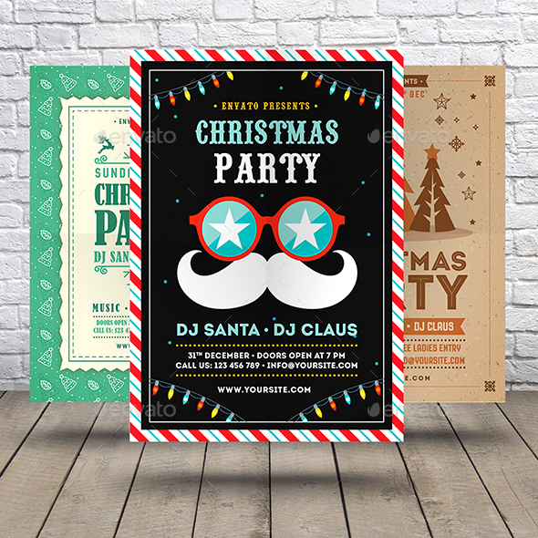 GraphicRiver Christmas Party Flyer Bundle 21040176