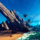 Island With Steep Rocks - VideoHive Item for Sale