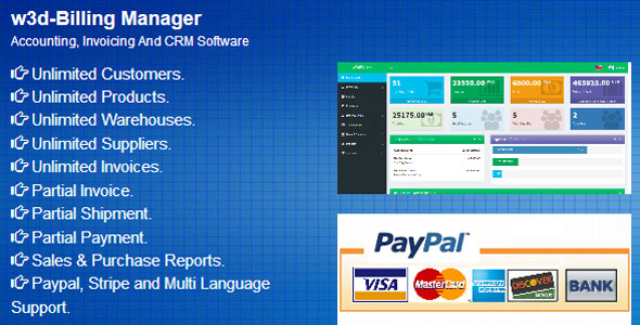 w3d Billing  -  Accounting, Invoicing And CRM Software - CodeCanyon Item for Sale