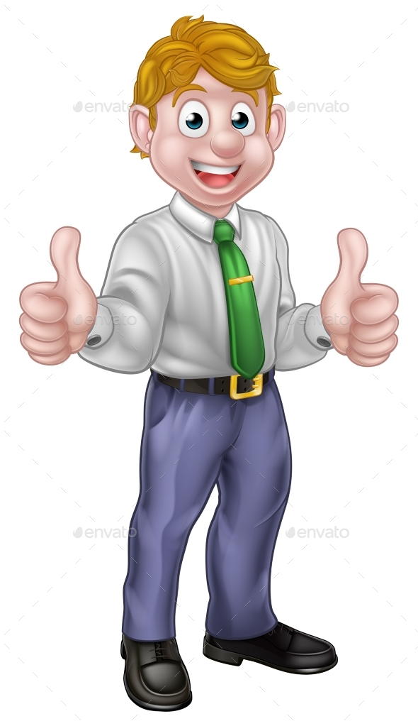 GraphicRiver Happy Cartoon Thumbs Up Man 21040459