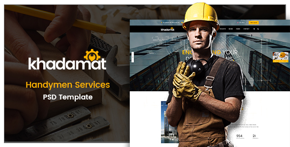 ThemeForest Khadamat Handymen Services PSD Template 21040464