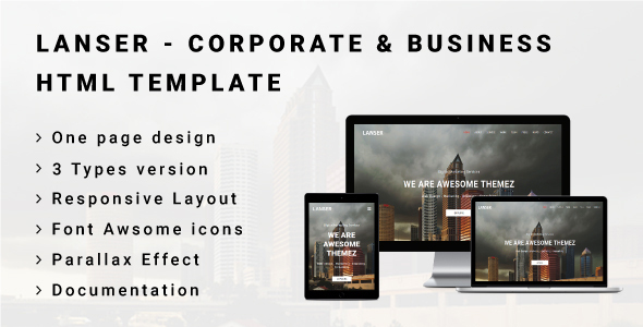 Image of LANSER - Corporate & Business HTML Template