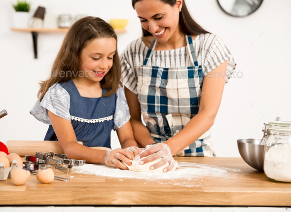 Learning to bake - Stock Photo - Images