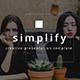 Simplify Minimal Keynote Template