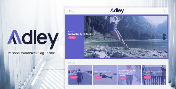 ThemeForest Adley Personal WordPress Blog Theme 20824050