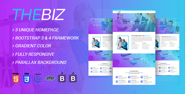 Download TheBiz - Multipurpose Business And Corporate HTML5 Template            nulled nulled version