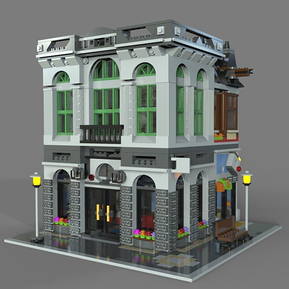 Lego bank - 3DOcean Item for Sale