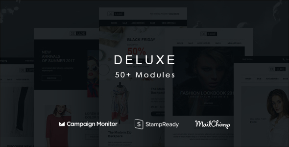ThemeForest Deluxe Fashion Store Email Newsletter Template Set 20945545