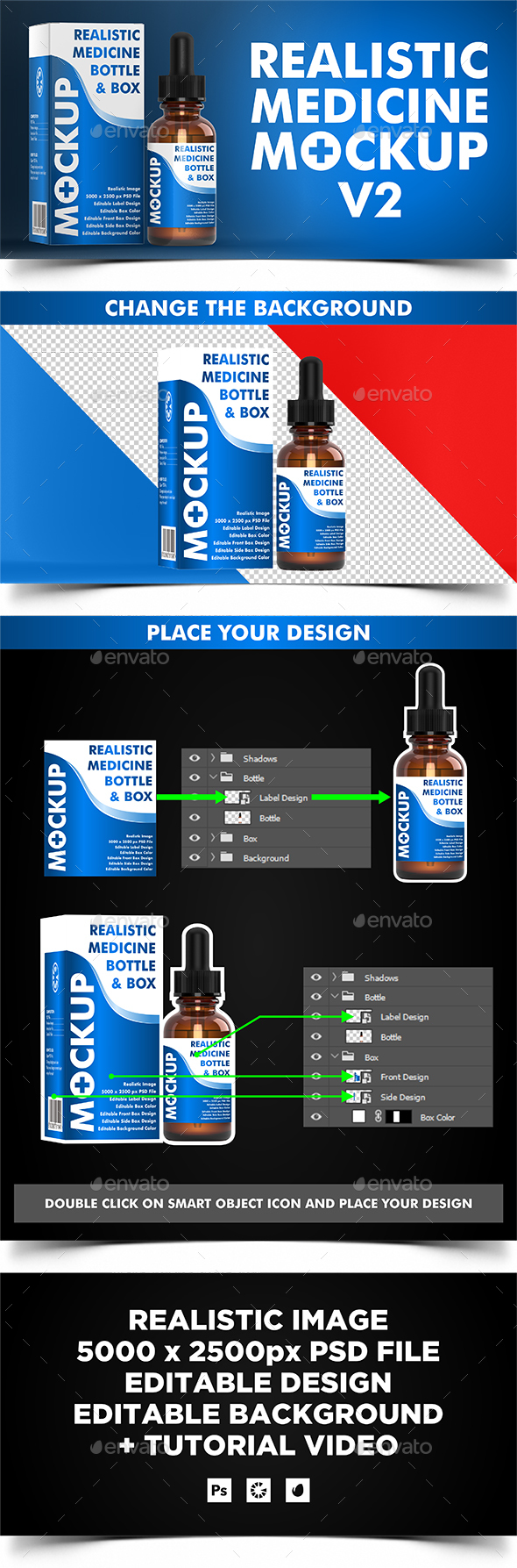 GraphicRiver Dropper Bottle Medicine Mockup v2 21041507
