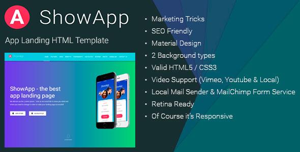 ShowApp - Landing Page