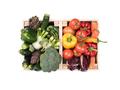 Fresh tasty vegetables in wooden crates - PhotoDune Item for Sale
