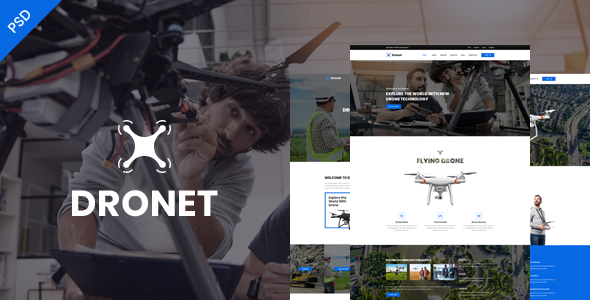 Dronet-Single Product Psd Template