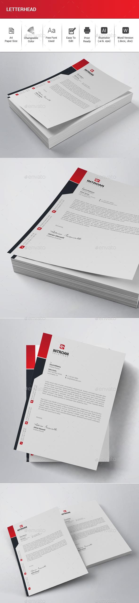GraphicRiver Letterhead 21042045