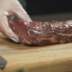 The Chef Cuts Meat into Steaks - VideoHive Item for Sale
