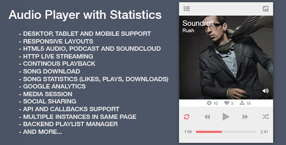 Audio Player with Statistics - CodeCanyon Item for Sale