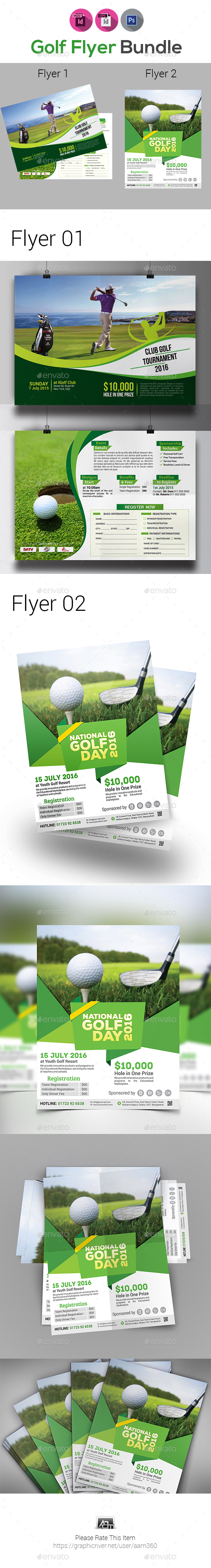 GraphicRiver Golf Flyers Bundle 21042515