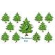 Christmas Tree Emotions Emoticons Set