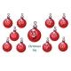 Christmas Ball Emotions Emoticons Set
