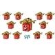Gift Box Emotions Emoticons Set Isolated