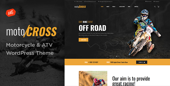 motoCROSS - Motorcycle & ATV WordPress Theme