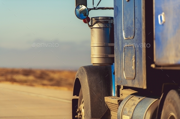 Semi Truck on the Road - Stock Photo - Images