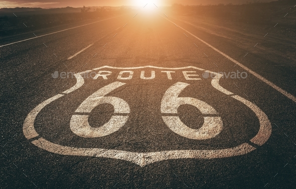Famous Highway 66 California - Stock Photo - Images