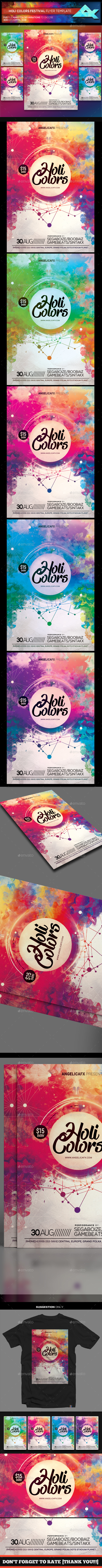 GraphicRiver Holi Colors Music Festival Flyer Template 21042845