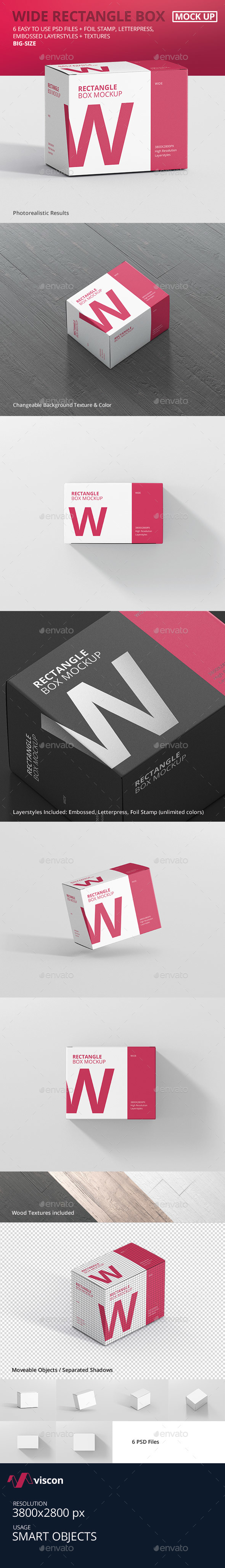 GraphicRiver Box Mockup Wide Rectangle Big Size 21042910