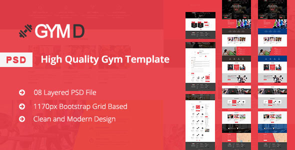 ThemeForest GYM D GYM PSD Template 20945492