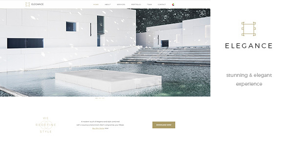 ThemeForest Elegance One Page Parallax RTL Black & White Template 20947734