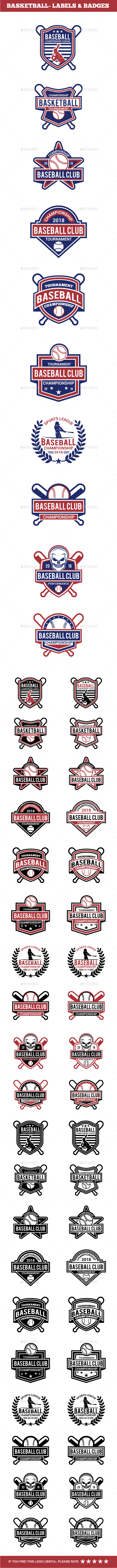 Baseball Badge & Stickers 4 - Badges & Stickers Web Elements