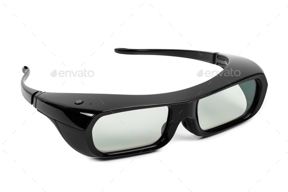 3D glasses on white background - Stock Photo - Images