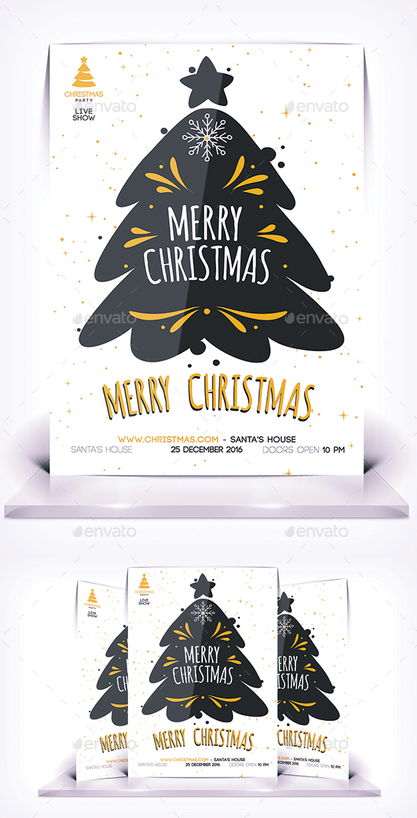 GraphicRiver Merry Christmas Flyer 21043251