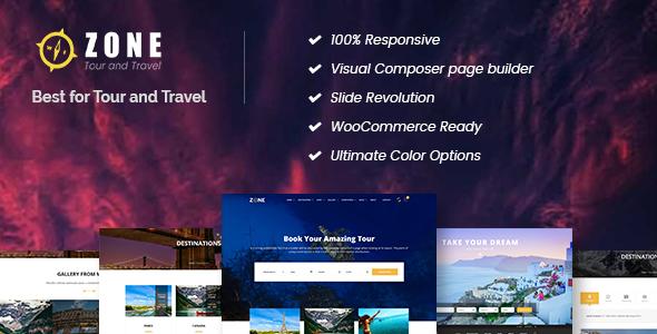Zone - Tours and Travel WordPress Responsive Theme Free Templates