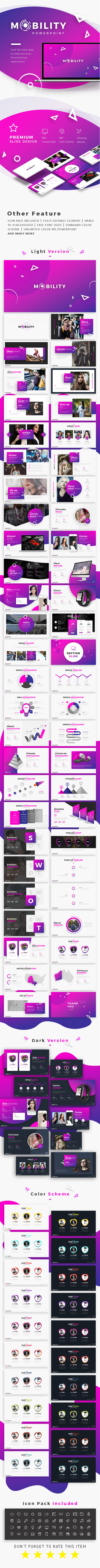 Mobility - Creative Presentation Template - Business PowerPoint Templates
