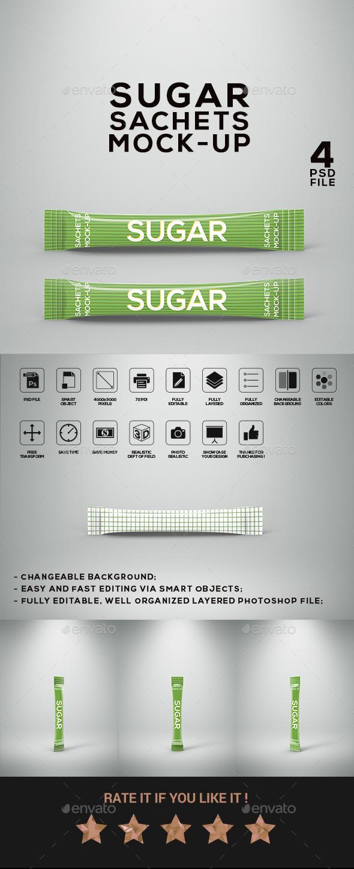 GraphicRiver Sugar Sachets Mock-Up 21043419