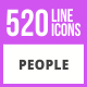 520 People Line Icons