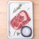 uncooked marble beef steak ribeye with salt and rosemary in white pallet  - PhotoDune Item for Sale